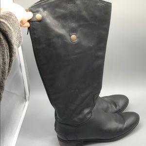 Sam Edelman black wide calf riding boots